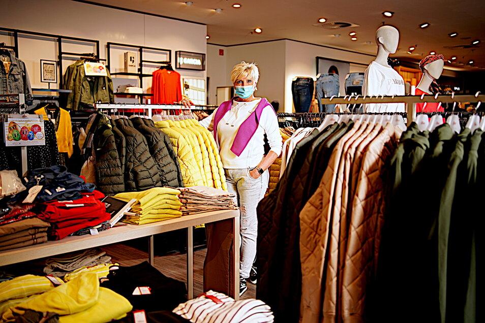 """Sylvia Schulz will bei """"Das macht Sinn"""" in der Altmarkt Galerie Tests im Laden anbieten, damit endlich Kunden kommen."""