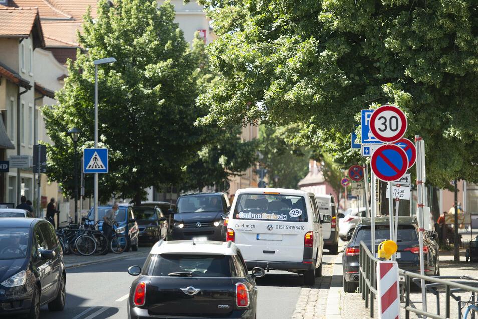Für die künftige Verkehrsführung auf der Bahnhofstraße standen drei Varianten zur Abstimmung.