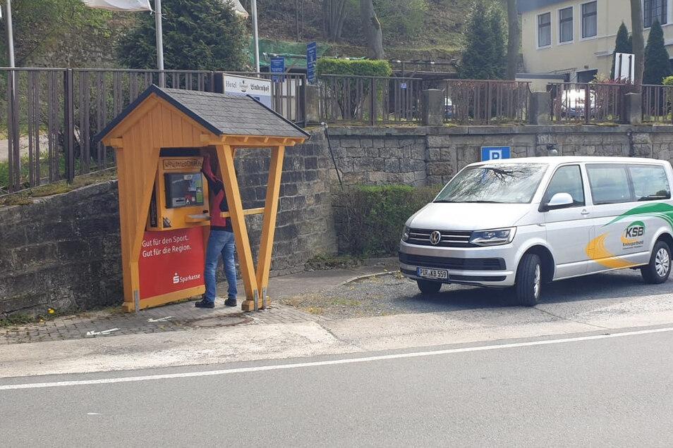 Wieder in Betrieb: der Stoppomat in Königstein.