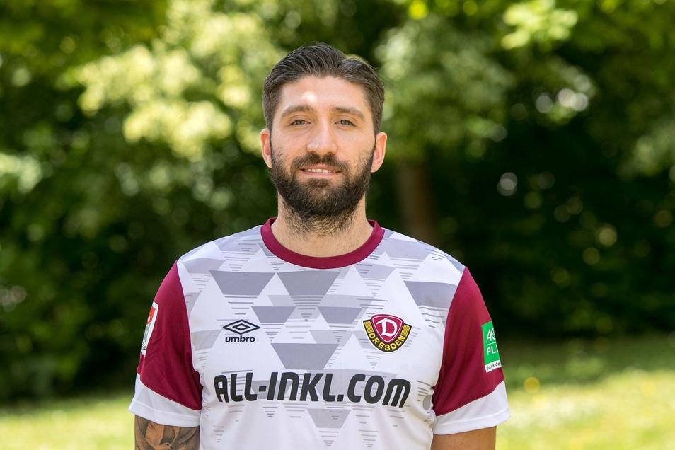 Brandon Borello kommt vom SC Freiburg nach Dresden. Er lief bereits dreimal für die australische Nationalmannschaft auf.
