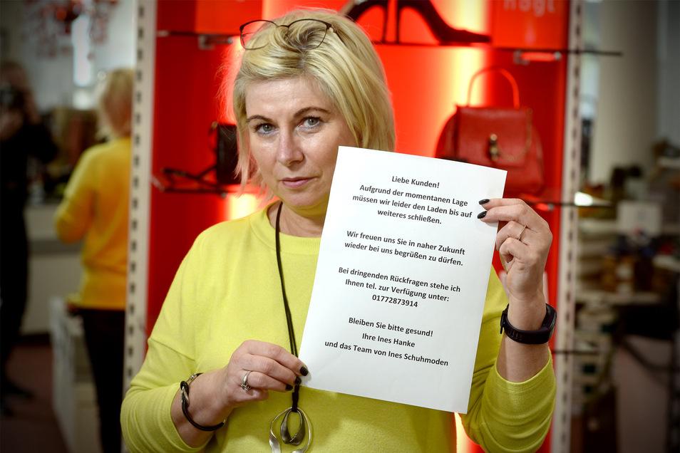 Modehändlerin Ines Hanke fürchtet existenzielle Einbußen für den Löbauer Handel.