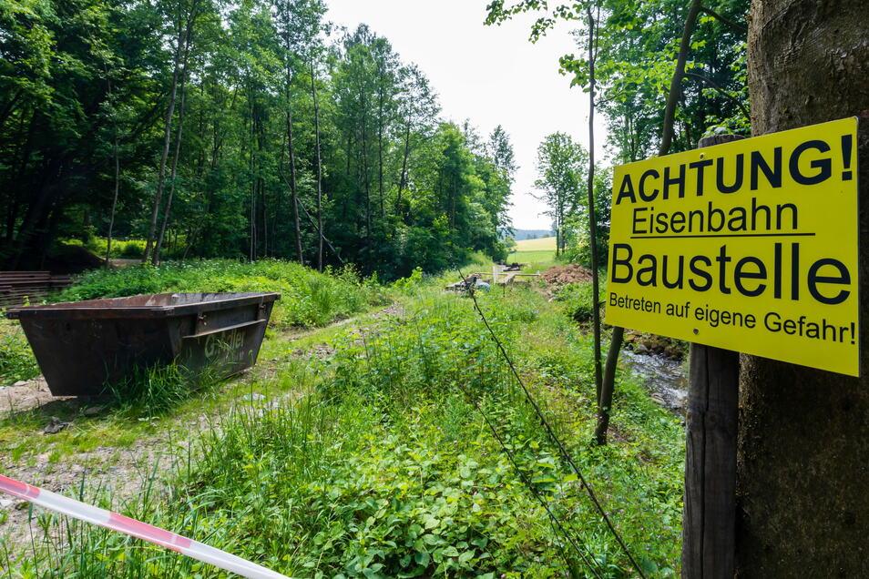 In Richtung Unterehrenberg müssen nicht nur Gleise verlegt werden. Es sind auch einige Brücken zu sanieren.