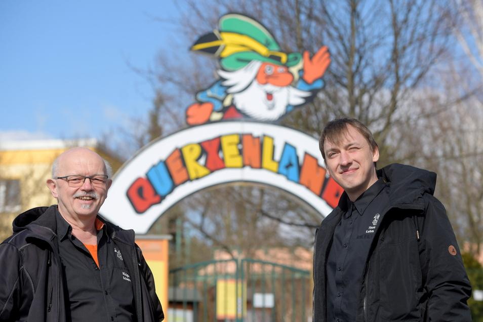 Querxenland Seifhennersdorf: Rüdiger Schaper und Thomas Lehmann (rechts).