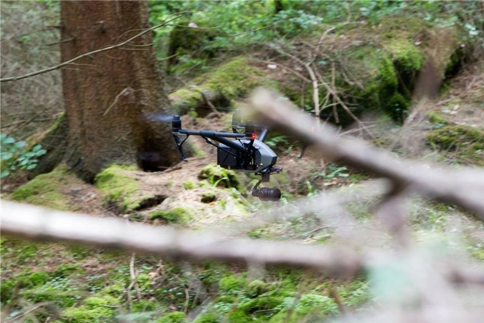 Für Aufnahmen in der Totale kommt eine Drohne zum Einsatz.