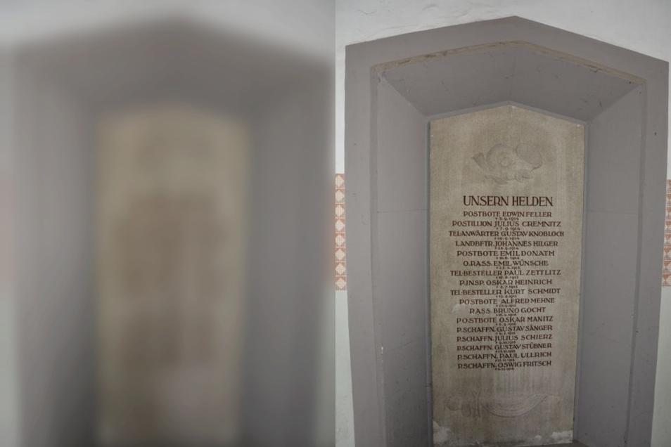 Ein Gedenkstein für 17 Post-Mitarbeiter, die im Ersten Weltkrieg ums Leben kamen.