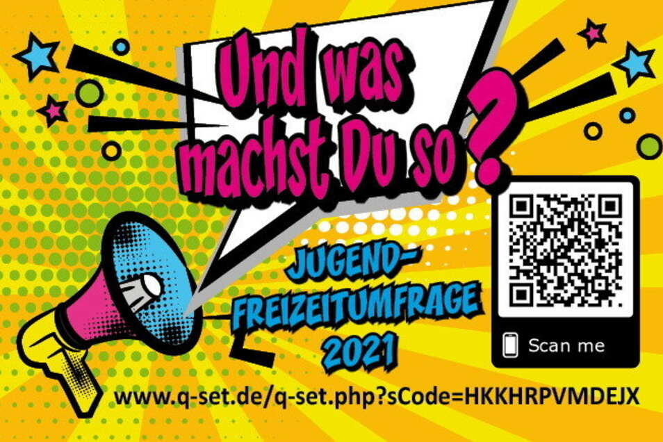 Mit diesem Motive wirbt der Verein Pro Jugend um die Teilnahme bei der Umfrage. Über den QR-Code gelangen Kinder und Jugendliche direkt dort hin.
