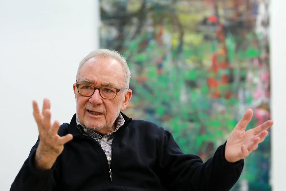 Gerhard Richter in Köln in seinem Atelier: Mit 88 Jahren beschließt er sein Werk.