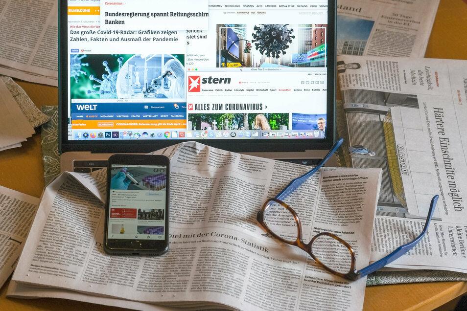 In einer aktuellen Umfrage halten 67 Prozent der Befragten die Informationen in den Medien alles in allem für glaubwürdig.