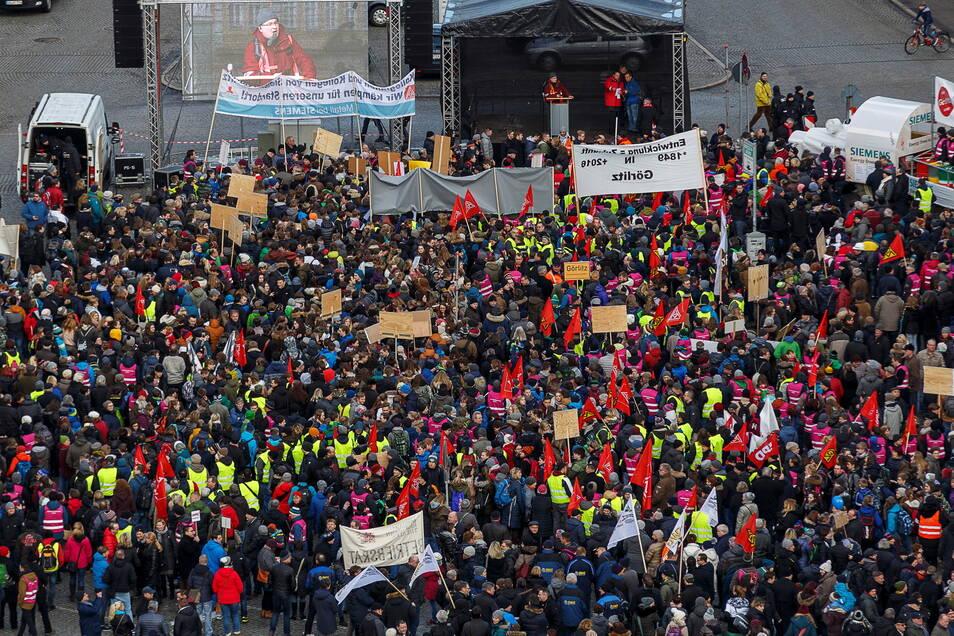 Im Januar 2018 fand eine der größten Demonstrationen zum Erhalt der Arbeitsplätze bei Siemens und Bombardier in Görlitz statt.