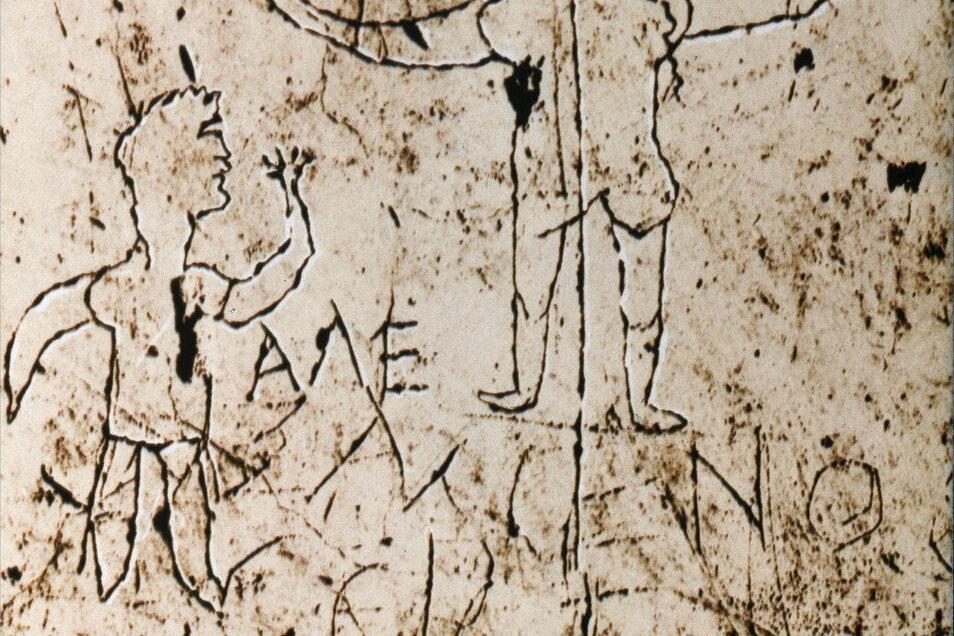 Die älteste Darstellung von Jesus am Kreuz ist gleichzeitig eine gotteslästerliche. Das Spottkruzifix zeigt Christus mit Eselskopf.