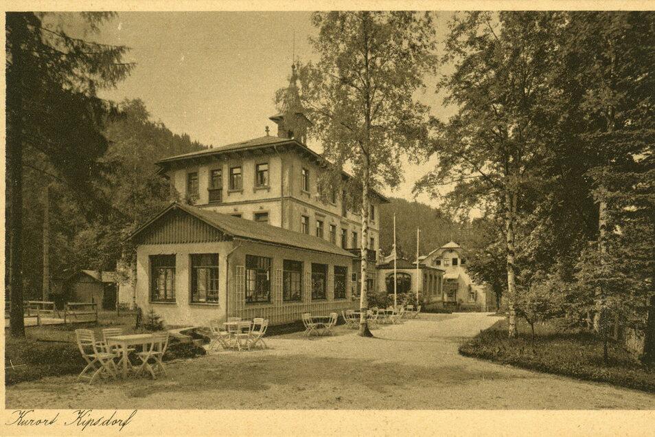 Die Historische Ansicht vom Fürstenhof Kipsdorf stammt aus der Archivrecherche des Heimatforschers Siegfried Gerhardt.