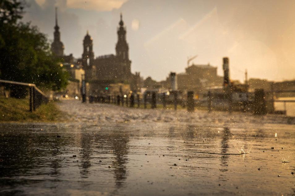 Kräftig geregnet hatte es im August an mehreren Tagen.
