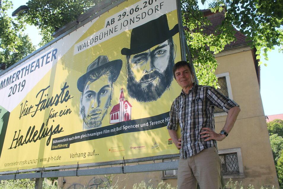 """Axel Stöcker inszeniert das Waldbühnen-Stück """"Vier Fäuste für ein Halleluja"""", das auf dem gleichnamigen Film mit Bud Spencer und Terence Hill basiert."""