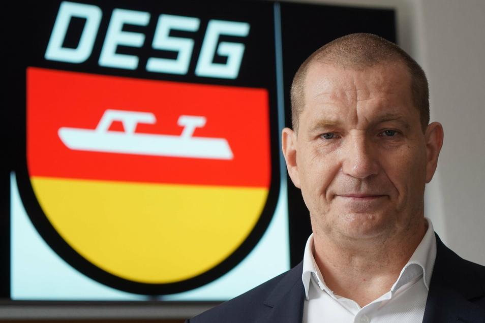 Matthias Große, Präsident der Deutschen Eisschnelllauf-Gemeinschaft (DESG), sieht sich weiter auf dem richtigen Kurs.
