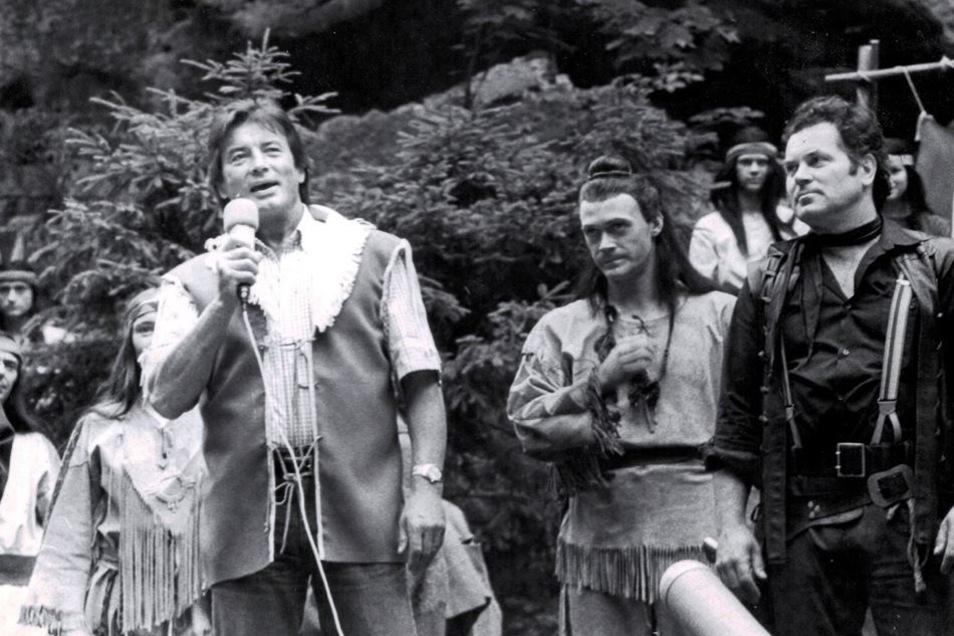 Pierre Brice am 21. Juli 1988 auf der Felsenbühne.