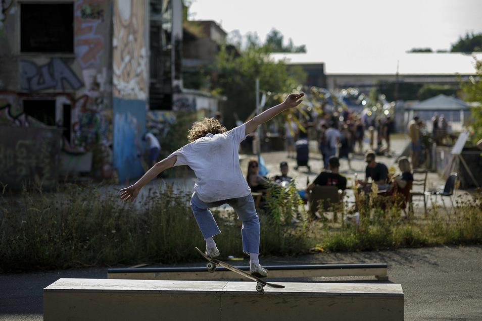 Im früheren Görlitzer Schlachthof hatten beim Fokus-Festival am Sonnabend unter anderem die Skateboarder ihren Platz.