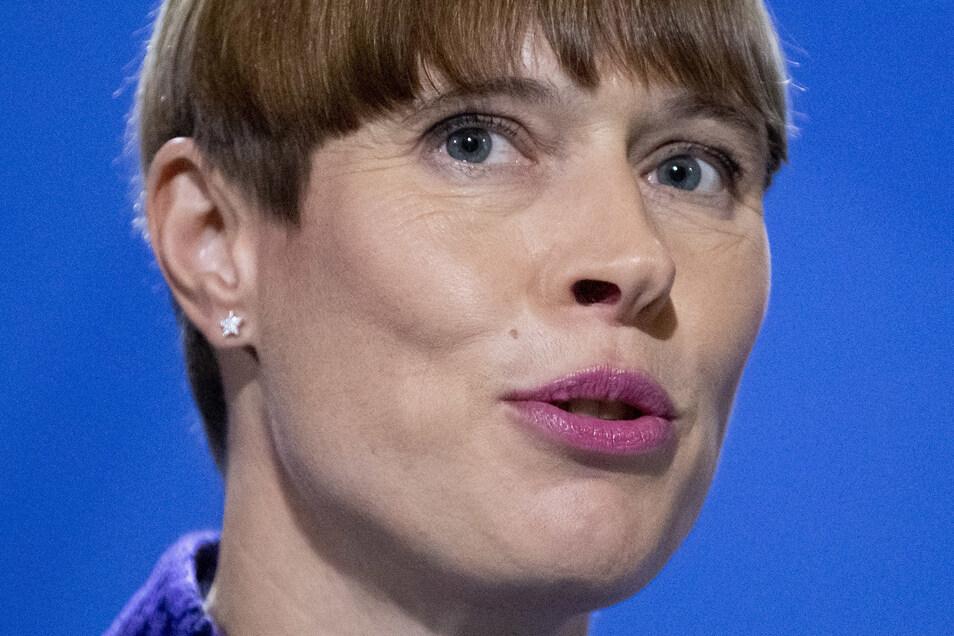 Estlands Staatspräsidentin Kersti Kaljulaid kommt am Sonntagabend zu einem Blitzbesuch nach Großröhrsdorf.