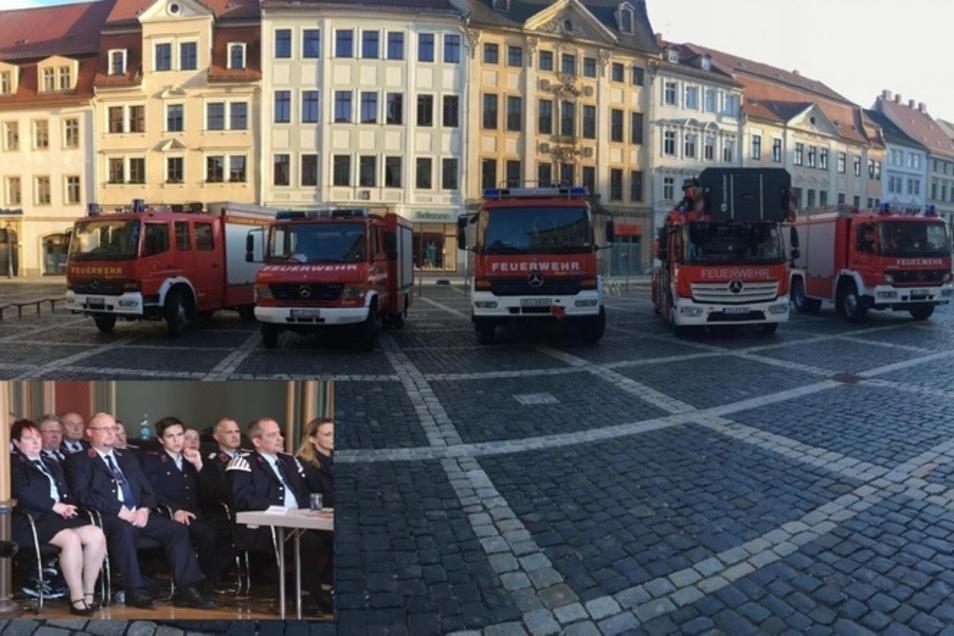 So sah es vor einigen Monaten auf dem Markt und im Rathaus aus, als der Stadtrat über mögliche Umstrukturierungen bei der Feuerwehr entschied.