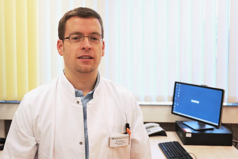 Dr. Martin Braun, Leitender Oberarzt Neurologie im Klinikum Pirna: Bei einem Schlaganfall zählt jede Minute.