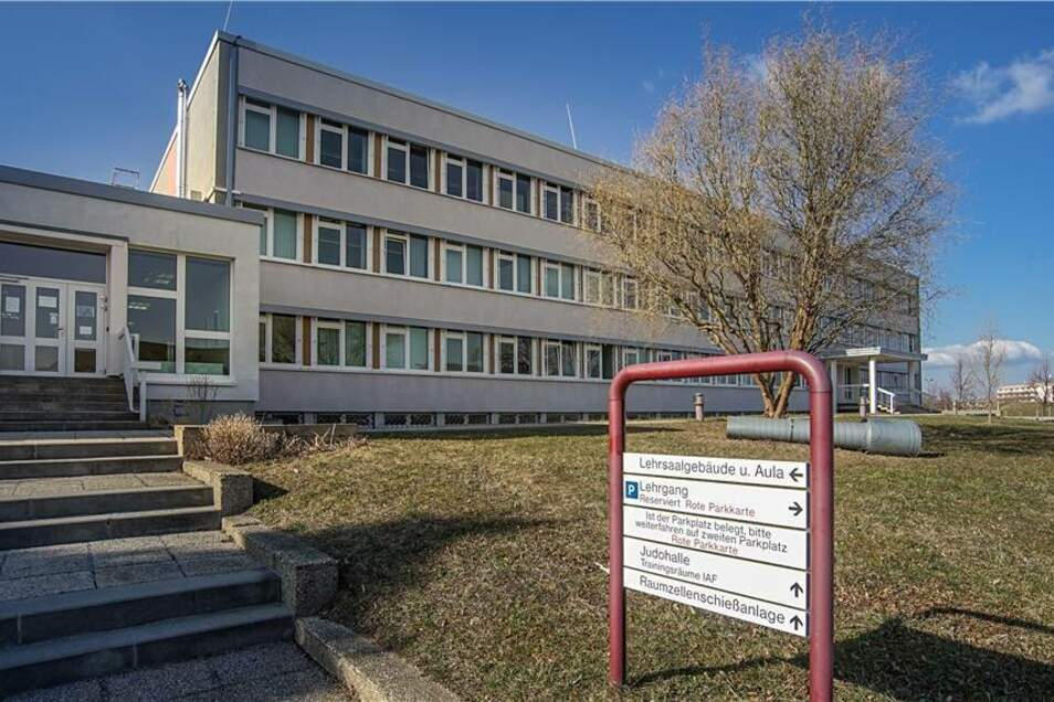 Blick auf den Bautzener Standort der Hochschule der Sächsischen Polizei.