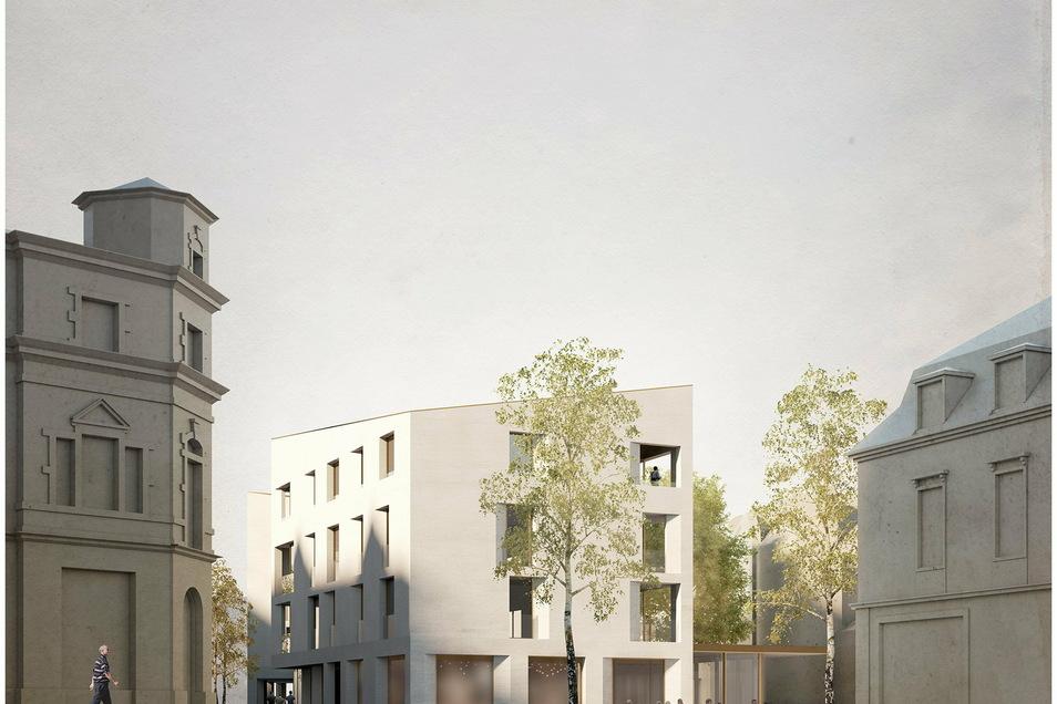 So stellte sich Architekt Torsten Herrmann für reitter architekten zt gesmbh eine neue Bebauung am Hirsch vor. Die Visualisierung stammt von Sonaar.