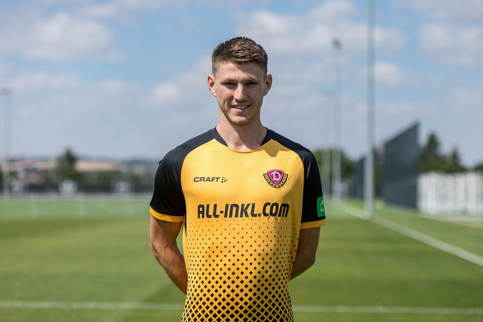 Robin Becker kam von Eintracht Braunschweig zu Dynamo. Der 23-Jährige soll die rechte Abwehrseite dicht machen.