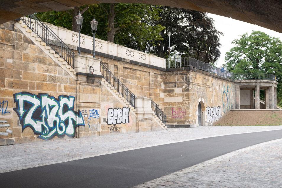 Sanierung Unterseite Albertbrücke, Neustädter Seite Albertbrücke, Dresden, Foto: Rene Meinig