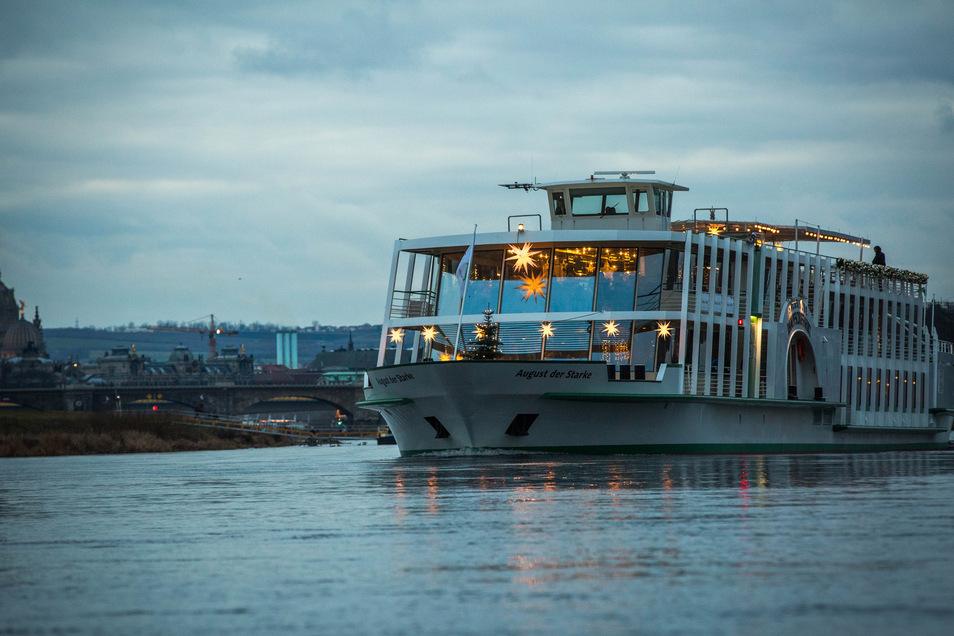 """Das große Salonschiff """"August der Starke"""" soll neben der """"Gräfin Cosel"""" in einigen Jahren ersetzt werden. Foto: Sven Ellger"""