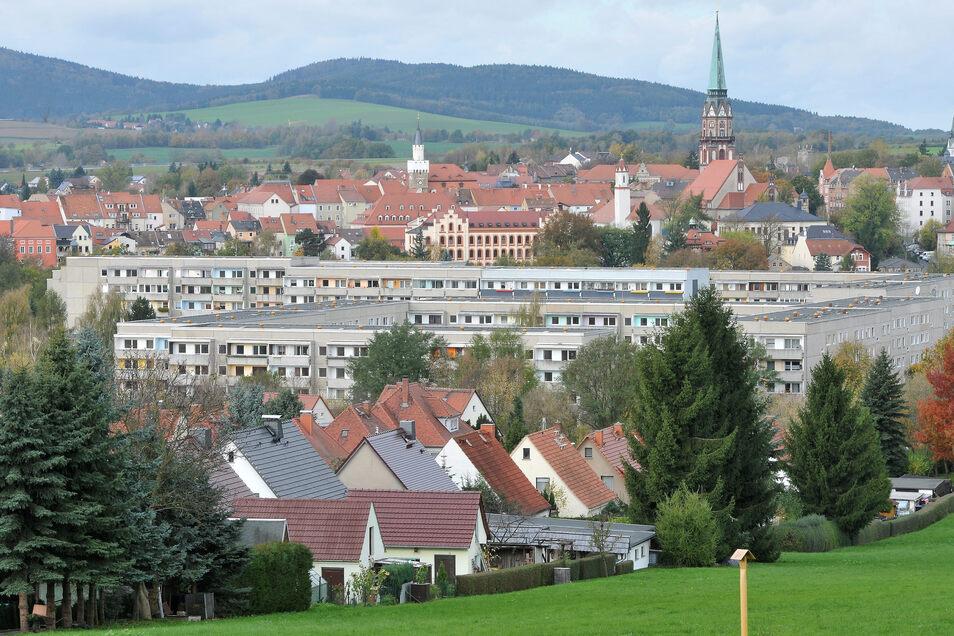 Blick auf Löbau, das weiter eine Außenstelle des Landratsamtes in Görlitz bleibt - aber viele Mitarbeiter verliert.