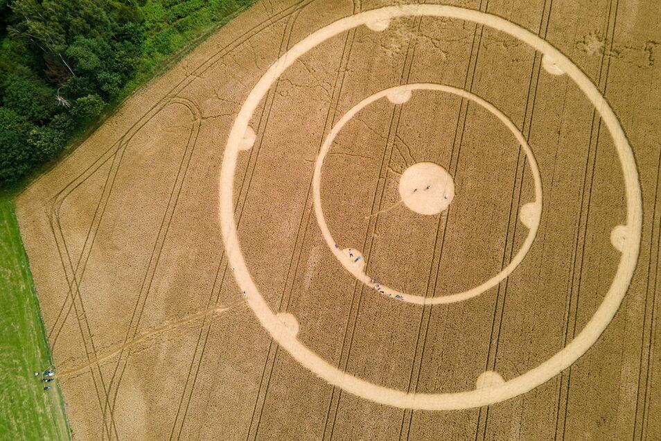 Die Kreise wurden am Wochenende entdeckt.