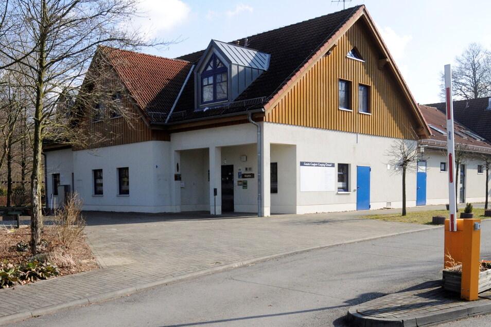 Eingang zum Ortrander Freibad.