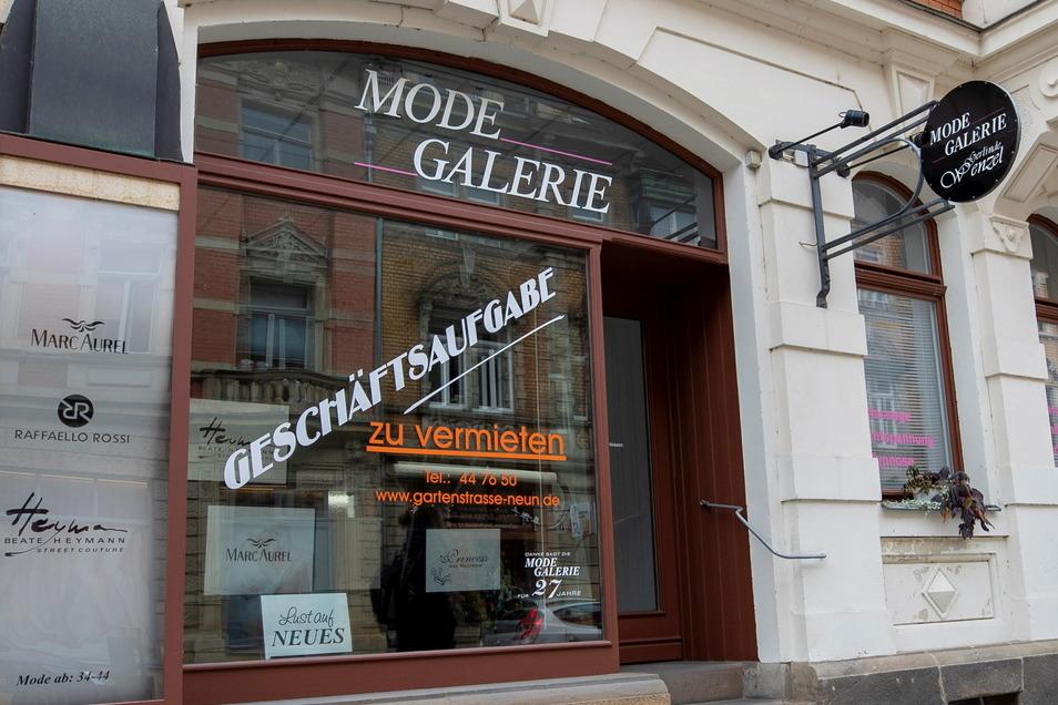 Die Modegalerie in Pirna in der Gartenstraße hat geschlossen.