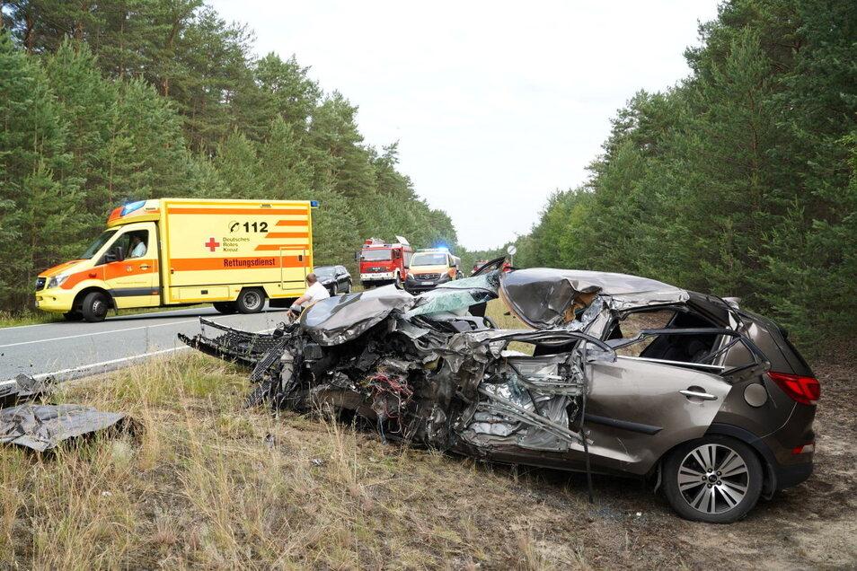 Am Montagmorgen kam es bei Uhyst/Spree zu einem schweren Unfall.