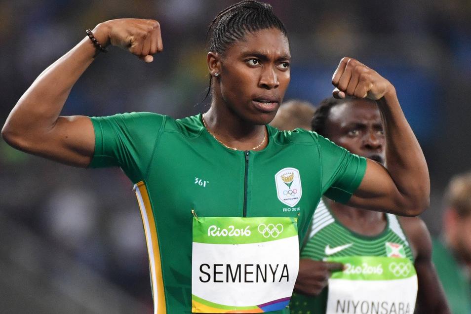 Caster Semenya wird Olympiasiegerin über 800 Meter - und demonstriert Stärke.