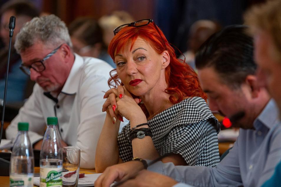 Claudia Mihály-Anastasio reicht ihr Amt an Alexander Frenzel (2.re.) weiter.