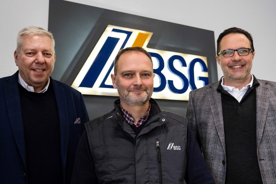 Die drei von dem neuen Unternehmen (v. li.): Mike Barke, André Wendler und Hans-Christian Zink.
