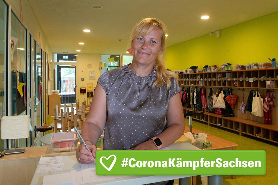 Katja Kunath ist gerne Erzieherin. Die Einschränkungen durch Corona sorgen aber auch in ihrer Kita für Veränderungen.