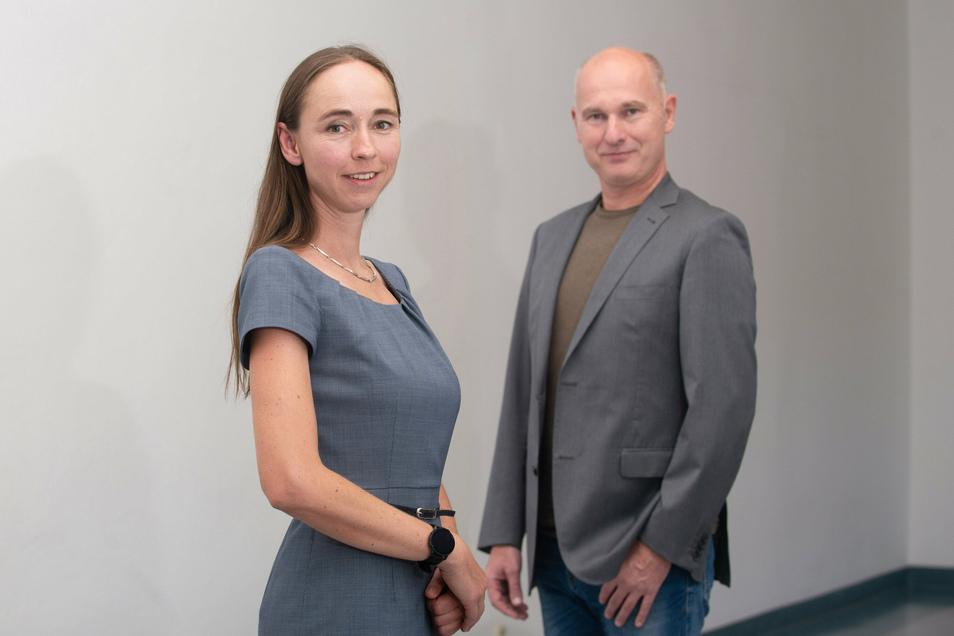 Sozialbürgermeisterin Kristin Kaufmann (Linke) und der kaufmännische Direktor des Städtisches Klinikums Dresden Marcus Polle im SZ-Interview.