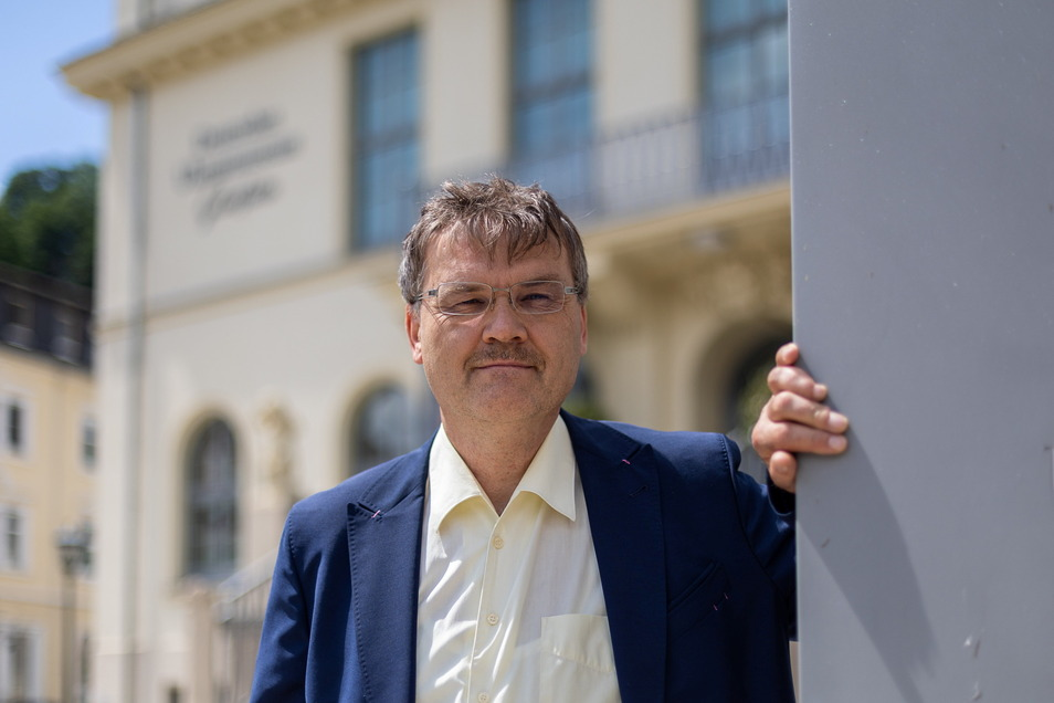 Steffen Barthel möchte gern Bürgermeister in Glashütte werden. Bisher ist er als Stadtrat in der Uhrenstadt tätig.