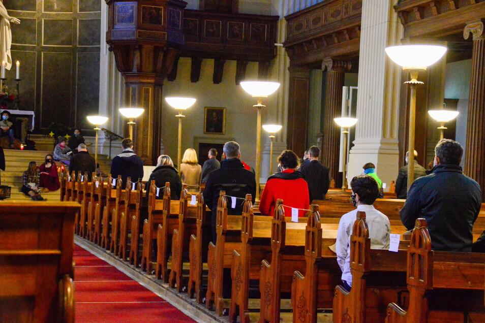 In der Zittauer Johanniskirche gab es Heilig Abend eine Christvesper unter besonderen Bedingungen.