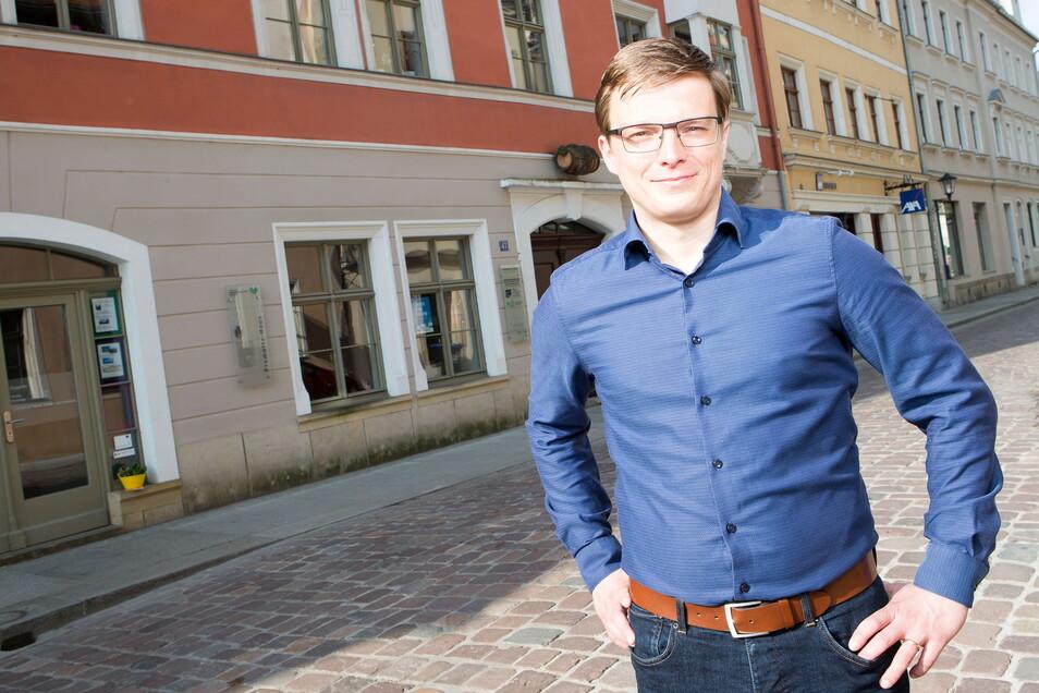 """Sebastian Reißig, Geschäftsführer des Pirnaer Vereins """"Aktion Zivilcourage"""": Ich freue mich über die hohe Wertschätzung."""