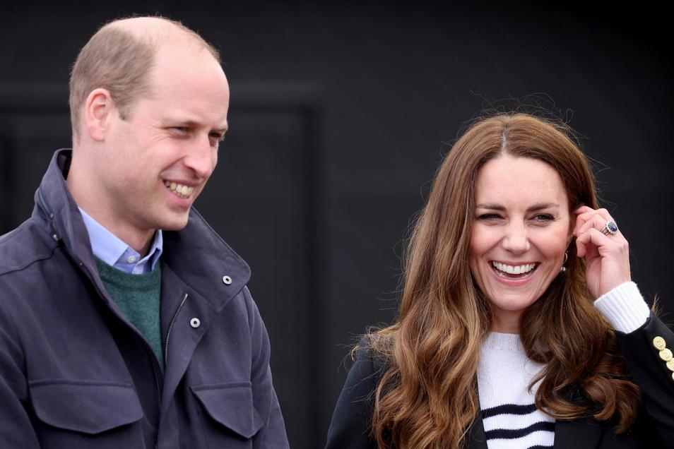 Prinz William und seine Frau Kate.