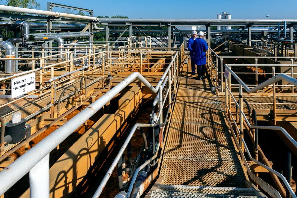 Die Wasserbehandlungsanlage wurde für zehn Millionen Euro auf den Betrieb ohne vorherige Uran-Abscheidung angepasst.