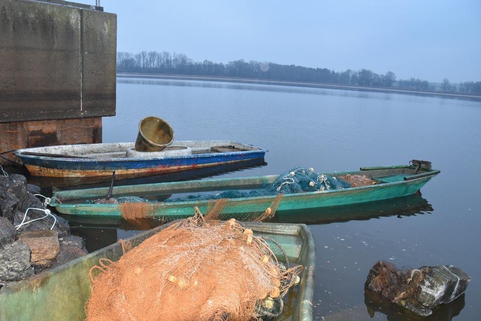 Mit Werkzeugen schlugen die Täter Löcher in die Boote der Teichwirtschaft und brachten sie so zum Sinken.
