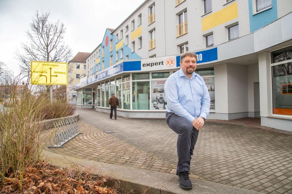 Das Expert-Geschäft von Roland Mitschke gehört zu Niesky.