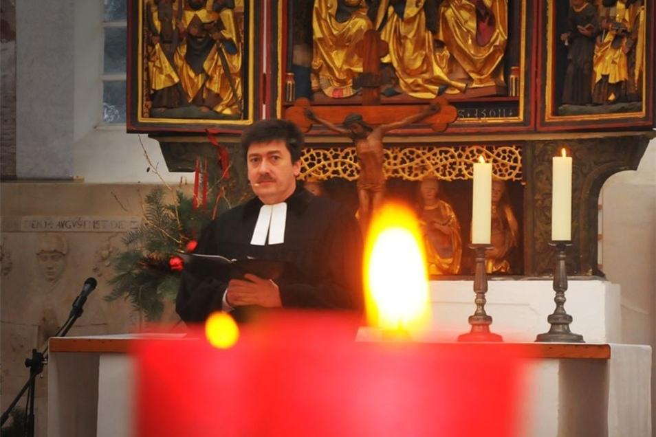 In der Kirche Ponickau fand ein Festgottesdienst statt.