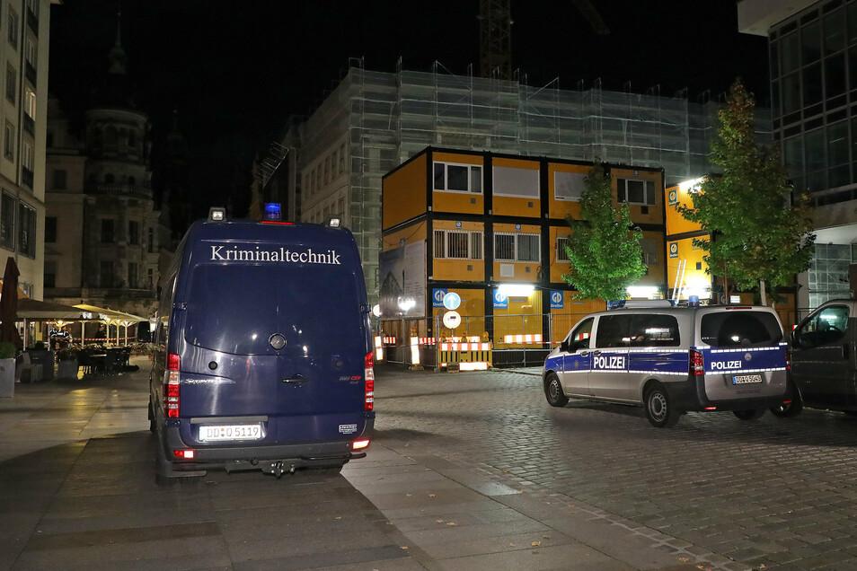 Hier in der Dresdner Innenstadt soll ein Verbrechen stattgefunden haben.