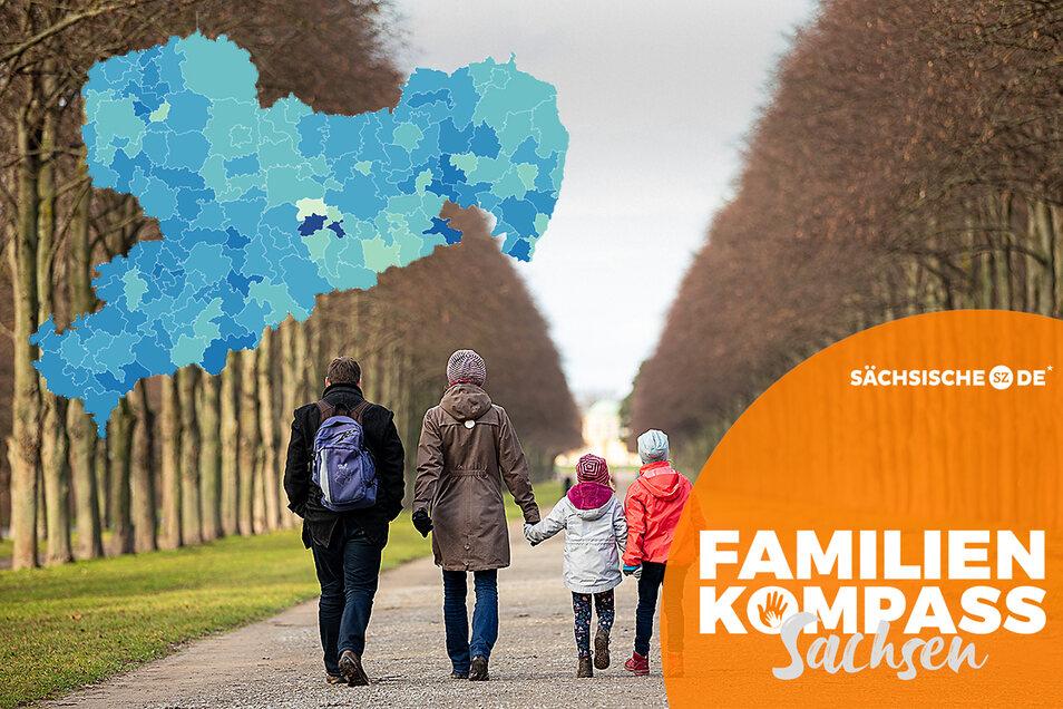 Die Ergebnisse der Befragung zum Familienkompass lassen sich auf einer interaktiven Karte vergleichen.
