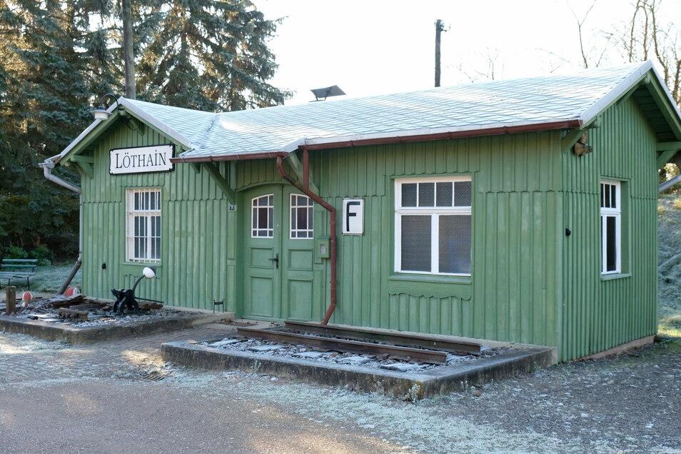 Das Schmuckstück: Der Bahnhof in Löthain ist heute ein Museum.