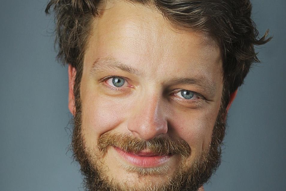 Patrick Pirl ist Mitarbeiter für Soziokultur bei der Telux in Weißwasser.